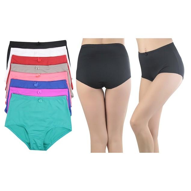 (6-Pack) ToBeInStyle Women's High-Rise Girdle Panties