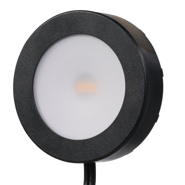 Commercial Electric 3-Light LED AC LED Module Puck Light Kit, 3.4 W, Black