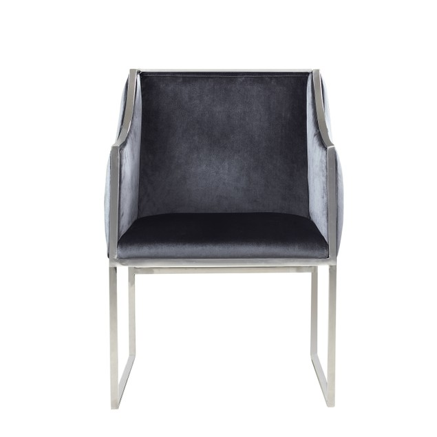 Chic Home Declan Modern Contemporary Steel Frame Velvet Accent Chair