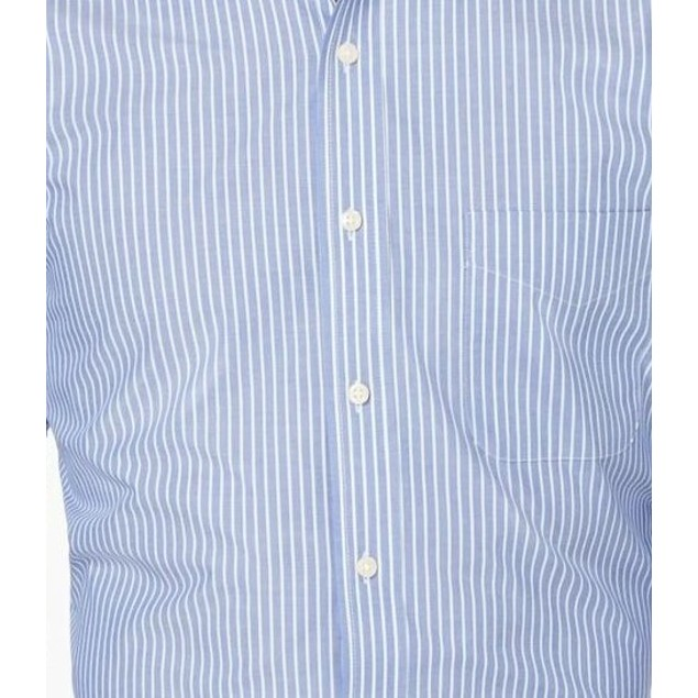 Club Room Men's Classic/Regular Fit Stripe Dress Shirt  Navy Size 16-34-35