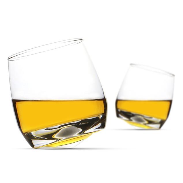 2 Rocking Whiskey Glasses   MandW