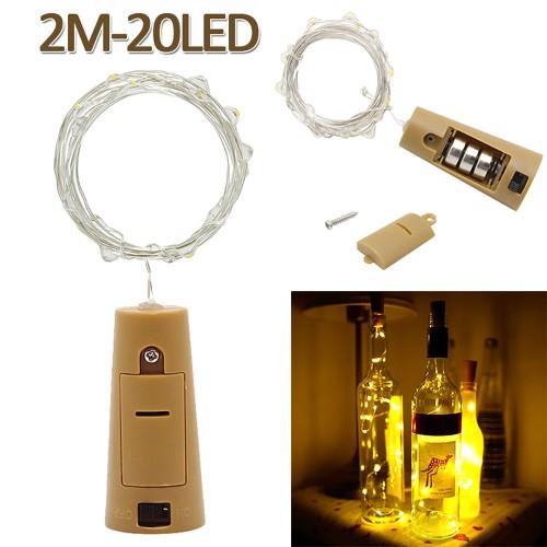 2m 20 LED Mini Bottle Stopper Lamp String Bar Decoration String