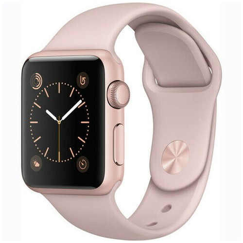 Apple Watch Series 1 38mm GPS Aluminum Rose Gold Case with Pink Sport Band  - Grade A