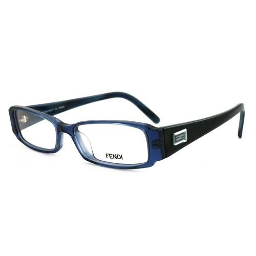 Fendi Women Eyeglasses FF891 443 Blue 48 14 135 Full Rim Rectangle