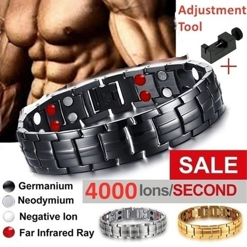 Men's Double Row Magnetic Therapy Bracelet