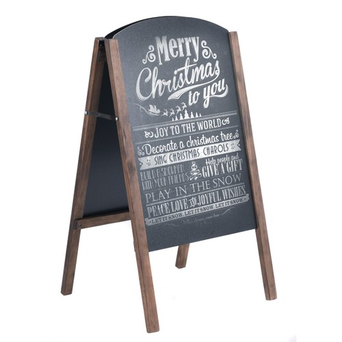 Costway 40'' Wood A-Frame Chalkboard Sign Menu Board Sidewalk Wedding Signa