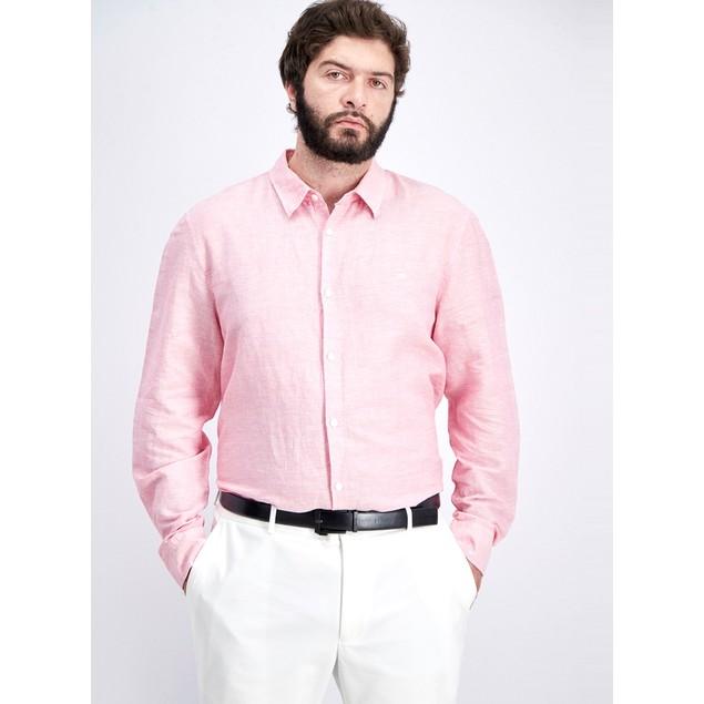 Calvin Klein Men's Chambray Shirt Pink Size Large