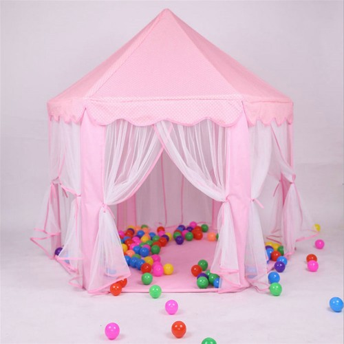 1.4m Diameter 210T Pongee Princess Castle Play House Large Outdoor Kids Play Tent for Girls