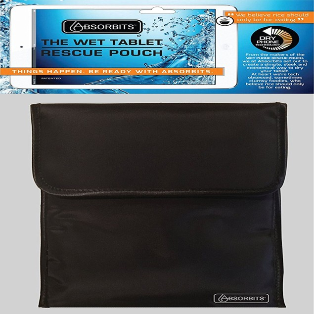 Absorbits Re-Usable Wet Electronics Rescue Pouch for Cell Phones - Black
