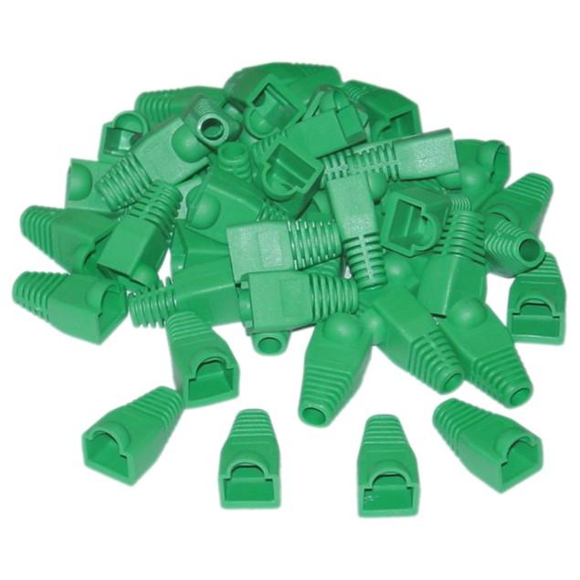 RJ45 Strain Relief Boots, Green, 50 Pieces Per Bag