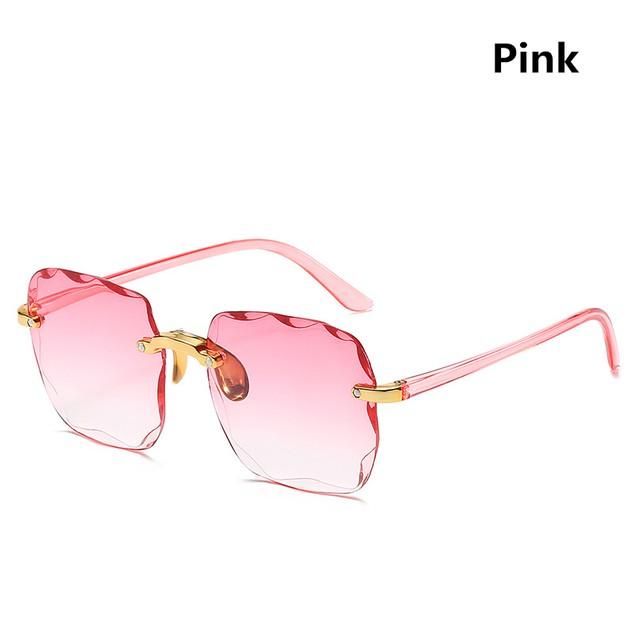 Square Frameless Ladies Street Fashion Catwalk Sunglasses
