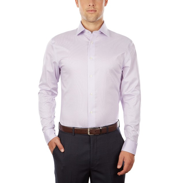 Tommy Hilfiger Slim-Fit Performance Stretch Check Dress Shirt 15.5x32-33