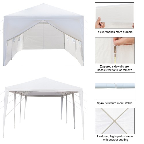 3 x 9 m Eight Sides Two Doors Waterproof Tent with Spiral Tubes