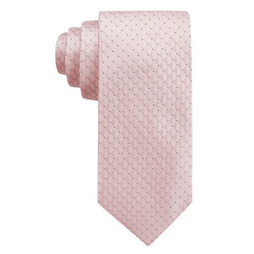 Ryan Seacrest Distinction Men's Vigo Neat Slim Silk Tie  Pink Size Regular