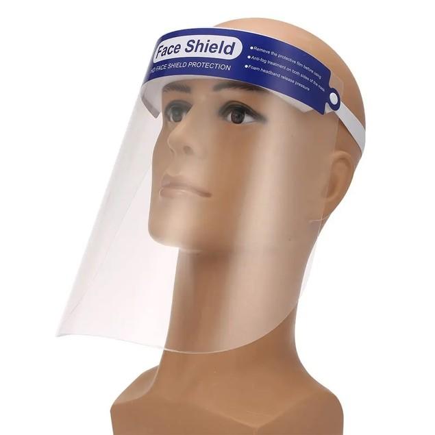 Full Face Mask Shield, Anti Spitting & Anti Fog Lens, Adjustable Cap Style