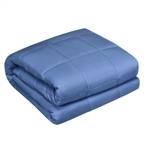 Costway 10lbs Premium Cooling Heavy Weighted Blanket Soft Fabric Breathable