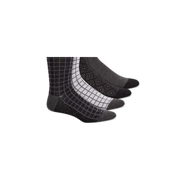 Alfani Men's 4-Pk. Printed Socks  Black Size Regular