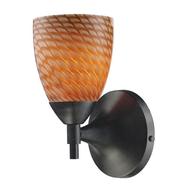 ELK Lighting Celina 1 Light Sconce In Dark Rust And Cocoa Glass