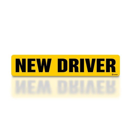 Zone Tech New Driver Magnet Reflecitve Vehicle Car Magent Decal Sign