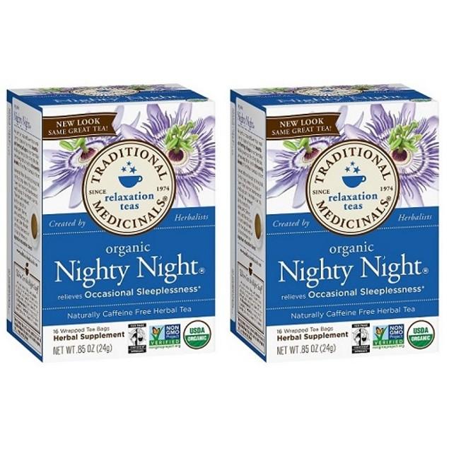 Traditional Medicinals Tea Organic Nighty Night 2 Box Pack