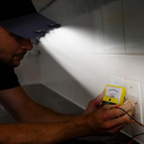 2-Pack Bright Basics Clip-On LED Hat Lights