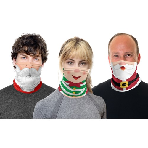 3-Pack Holiday-Themed Gaiter Mask Set