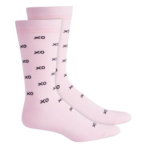 Bar III Men's Xo Socks  Med Pink Size Regular
