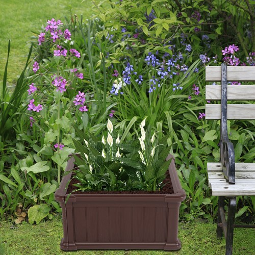 """23.8"""" x 23.8"""" x 11.8"""" Blow Molded Planting Frame"""