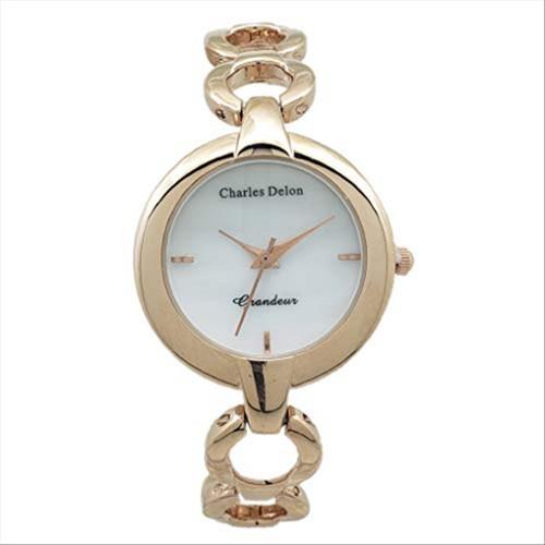 Charles Delon Women's Watches 5617 LRMP Gold/Gold Stainless Steel Quartz Round
