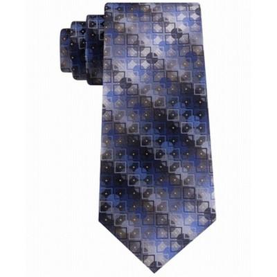 Van Heusen Men's Bergland Geo Tie Blue Size Regular