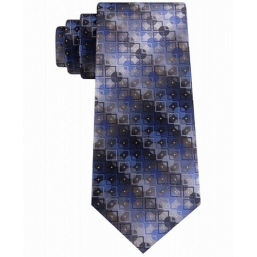 Van Heusen Men's Bergland Geo Tie Blue Size Regular