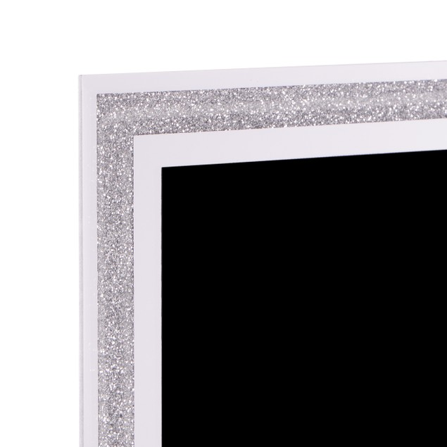"Set of 2 Sparkle Glass Frames MandW 8"" x 6"""