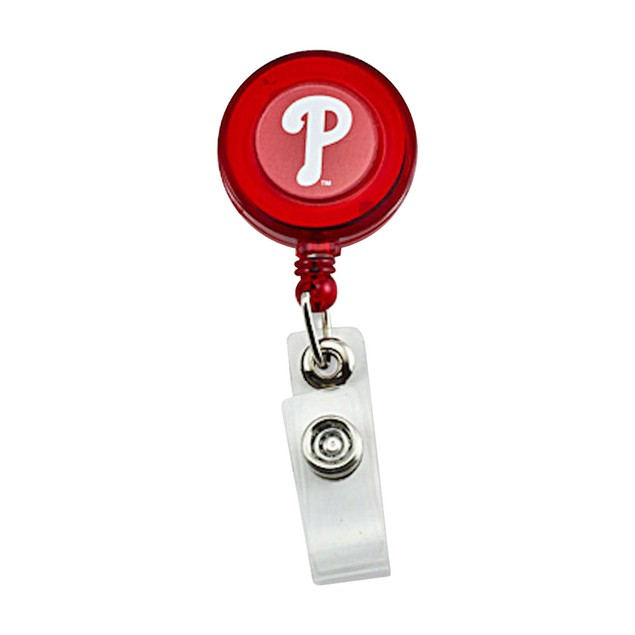 Philadelphia Phillies Retractable Badge Reel Id Ticket Clip MLB Red