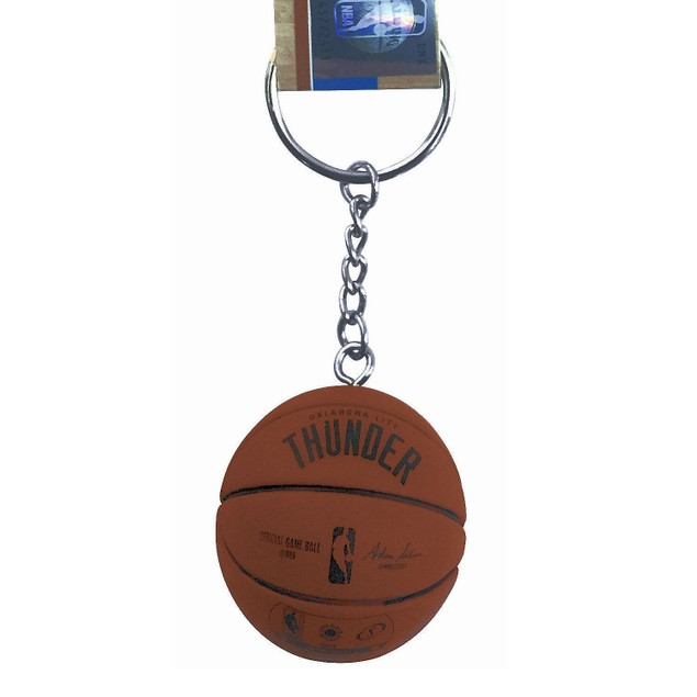 OKC Oklahoma City Thunder Mini Basketball Keychain Spalding NBA