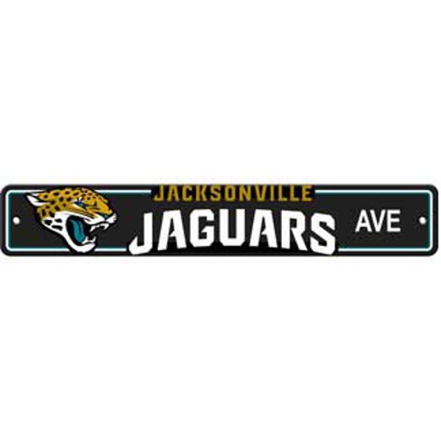 "Jacksonville Jaguars Ave Street Sign 4""x24"" NFL Football Team Logo Man Cave"