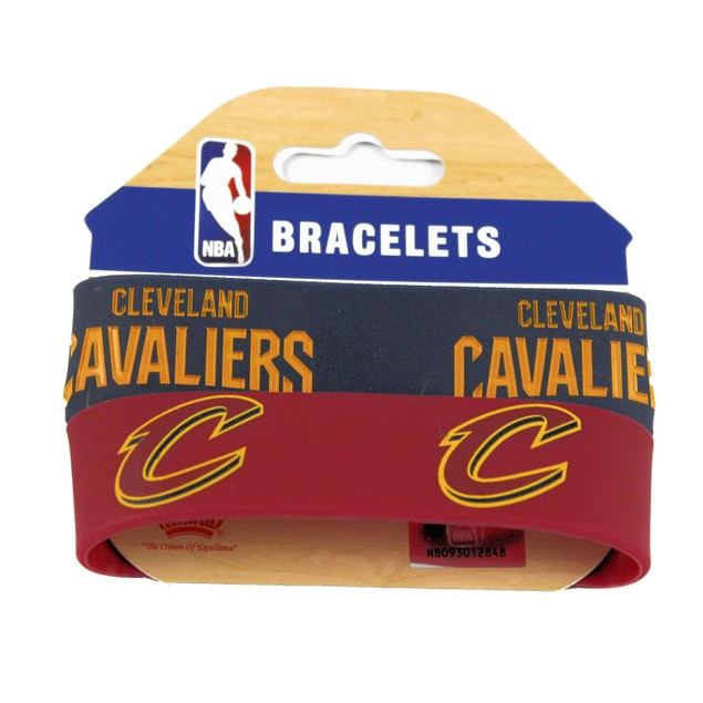 NBA Cleveland Cavaliers Set of 2 Rubber Wristband Bracelet