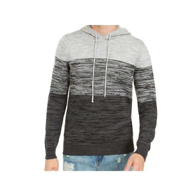 American Rag Men's Heathered Colorblocked Hoodie Gray Size Medium