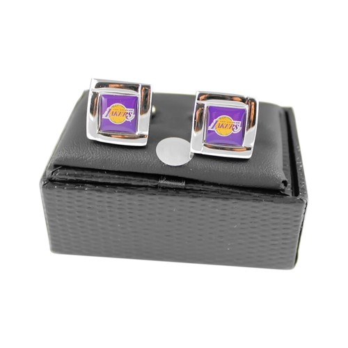 NBA Los Angeles Lakers Square Cufflinks Gift Box Set