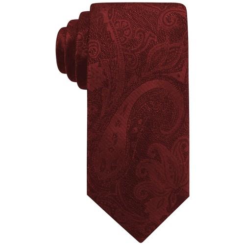 Ryan Seacrest Men's Aberdeen Paisley Tie Red One Size