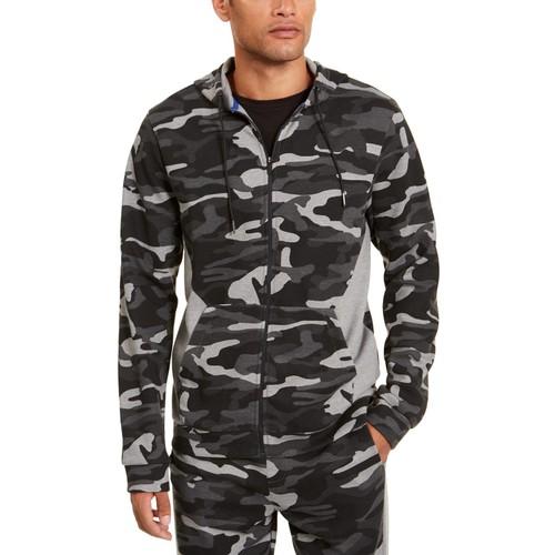 Ideology Men's Colorblocked Camo Jacket Black Size Medium