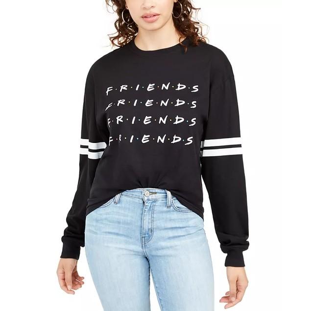 Warner Brothers Junior's Friends Graphic Top Black Size Medium