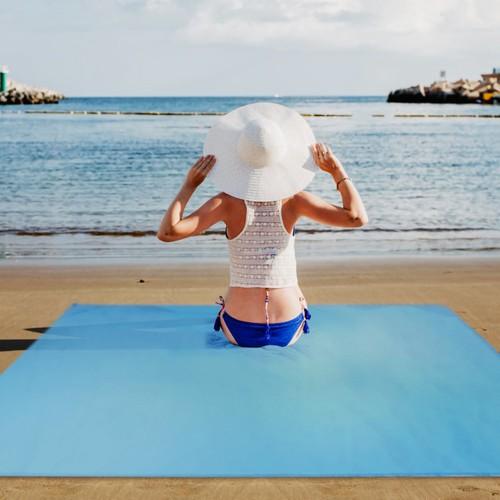 Waterproof Foldable Beach Blanket 4.6' x 6.6'