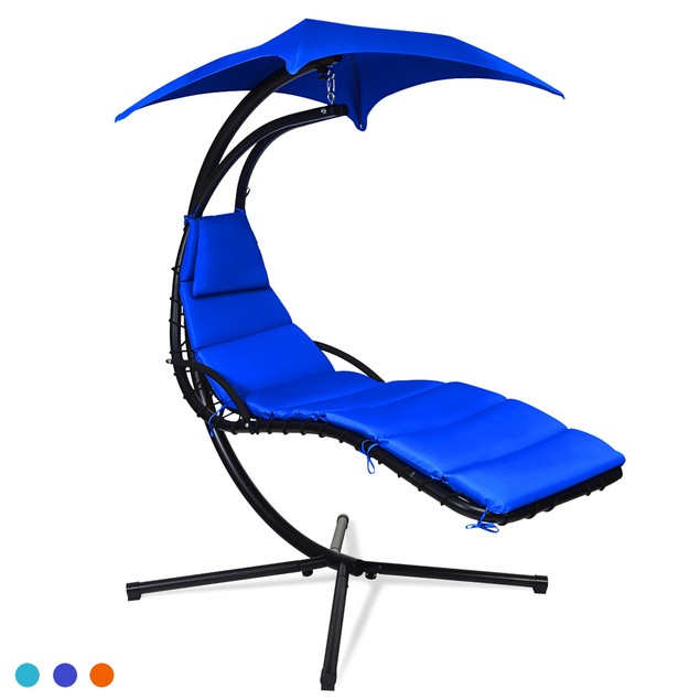 Costway Hanging Swing Chair Hammock Chair w/ Pillow