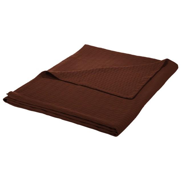 All Season Cotton Geometric Diamond Blanket by Blue Nile Mills