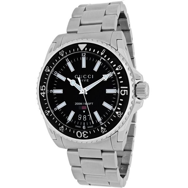 Gucci Men's Dive Black Dial Watch - YA136301