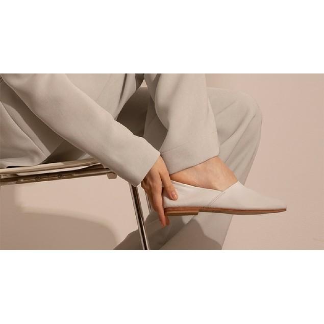 St. AGNI Women's George Glove Shoe - White Leather Size 37