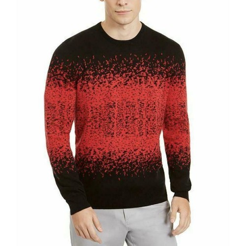 Alfani Men's Ombre Rib Crewneck Sweater Red Size XX-Large