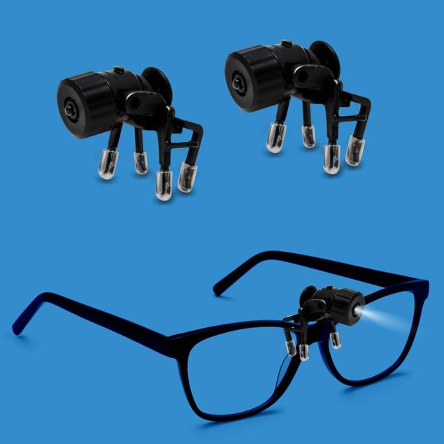 2-Pack:  Bright Basics Universal Clip-On LED Glasses Light