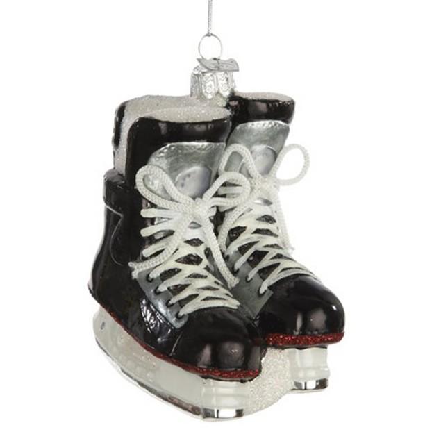 Ice Hockey Skates Glass Christmas Tree Ornament Xmas NHL Skating Hanging