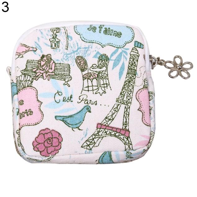 Women Girl Zipper Coin Purse Cute Cartoon Organizer Holder Towel Bag